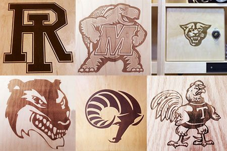 Laser Engraved Logo Wood Locker