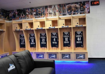 Virginia Wesleyan University Women's Locker room